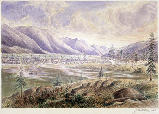 Kootenay River Valley by James Alden c1859