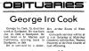 Cook, George Ira 1908 - 1978