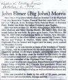 Morris, John Elmer (Big John) 1914 - 1994