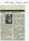 Wilson, 'Duff O.C. 1952 - 2004