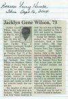 Wilson, Jacklyn Gene Snyder 1931 - 2004