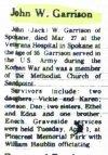 Garrison, John (Jack) W. died 1975